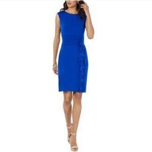 Jessica Howard Missy Sheath Dress Royal Blue Sz 14